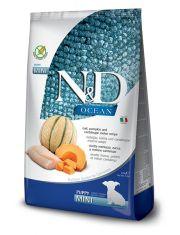 N&D OCEAN Puppy Mini Pumpkin, Codfish & Melon беззерновой для щенков и беременных и кормящих собак мелких пород с треской тыквой и дыней