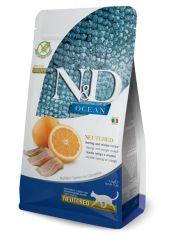 N&D OCEAN Herring & Orange беззерновой для стерилизованных кошек сельдь и апельсин