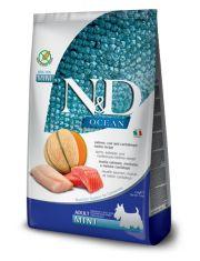 N&D OCEAN беззерновой для собак мелких пород лосось, треска, дыня