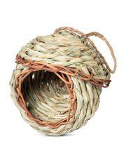 """Гнездо-Домик NATURAL для птиц из луговых трав """"Избушка"""""""