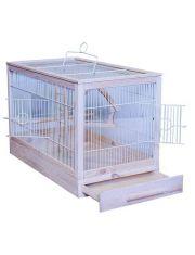 Ретро-кантри клетка для мелких и средних птиц белая