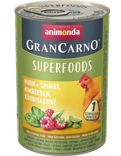 GranCarno Superfoods с курицей, шпинатом, малиной, тыквенными семечками