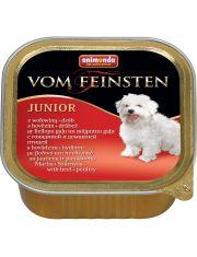 Vom Feinsten Junior для щенков с мясом домашней птицы и говядиной