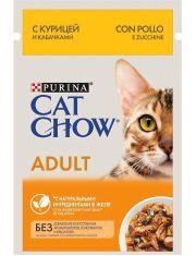 Для взрослых кошек, с курицей и кабачками в желе