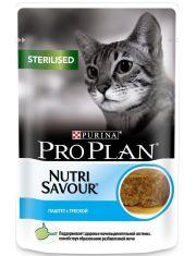 Nutri Savour® для стерилизованных кошек паштет с треской