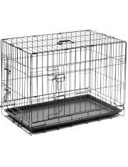 Клетка №3 пластиковый поддон, 2 двери, эмаль + ножки