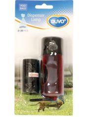 Контейнер для гигиенических пакетов с фонариком, красный, + пакеты 2*20шт