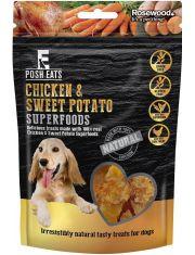 "POSH EATS Лакомство для собак ""Куриное филе со сладким картофелем"" , кусочки"