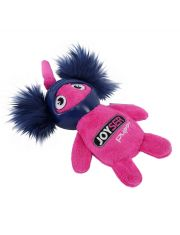 Белка в резиновом шлеме с пищалкой Joyser Puppy Squirrel with Helmet, розовая