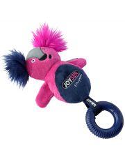Белка с резиновым кольцом и пищалкой Joyser Puppy Squirrel with Ring, розовая