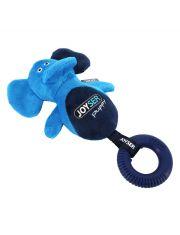 Слоник с резиновым кольцом и пищалкой Joyser Puppy Elephant with Ring, голубой