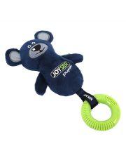 Мишка с резиновым кольцом и пищалкой Joyser Puppy Bear with Ring, синий