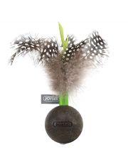 Мячик из кошачьей мяты с перьями с эффектом колебания
