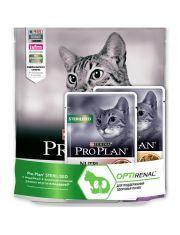 Набор ProPlan пакет 400 г для стерилизованных с уткой/печенью+2 пауча 85г
