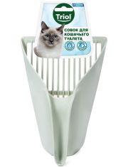 Совок-ковш для кошачьего туалета, оливковый