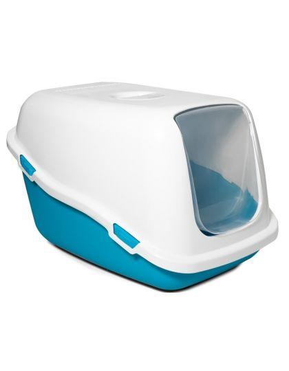 Туалет P920 для кошек закрытый, синий