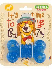 Игрушка для собак жевательная косточка (синий)