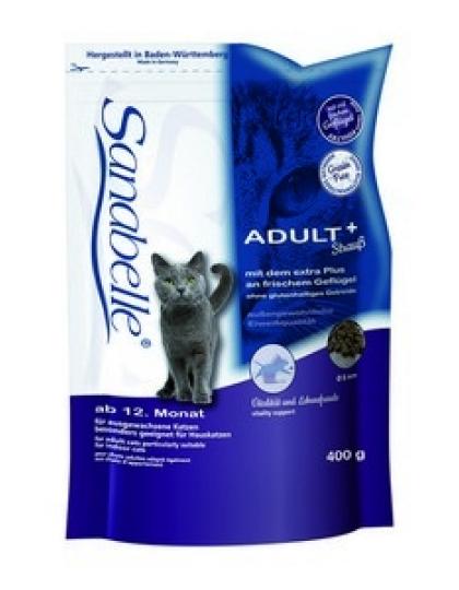 Adult корм для взрослых  кошек с мясом страуса