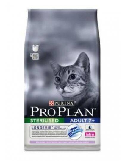 Sterilized 7+ сухой корм для пожилых кастрированных котов и стерилизованных кошек индейка