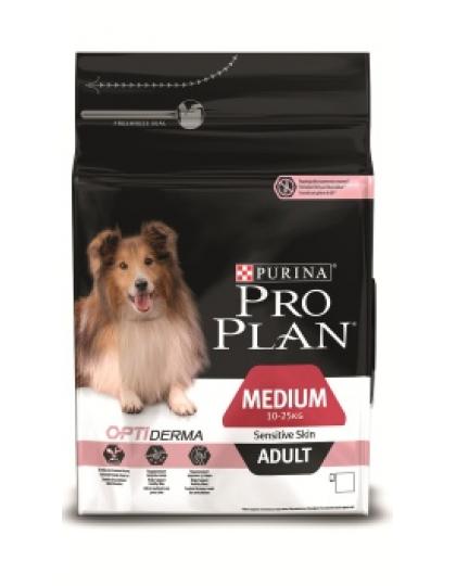 Medium Adult Sensitiv сухой полнорационный корм для взрослых собак средних породс чувствительной кожей, с комплексом Optiderma, лосось/рис