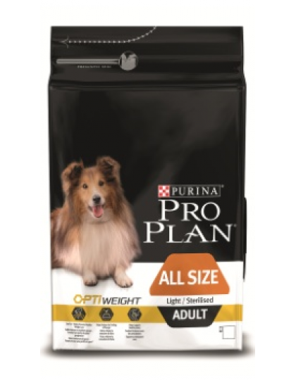 All Size сухой полнорационный корм с комплексом Optiweight для склонных к избыточному весу и/или стерилизованных взрослых собак любых пород, курица/рис