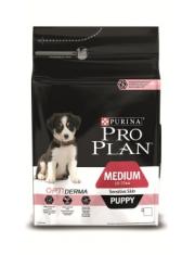 Medium Puppy Sensitive Skin с комплексом Optiderma сухой полнорационный корм для щенков средних пород с чувствительной кожей, лосоь/рис