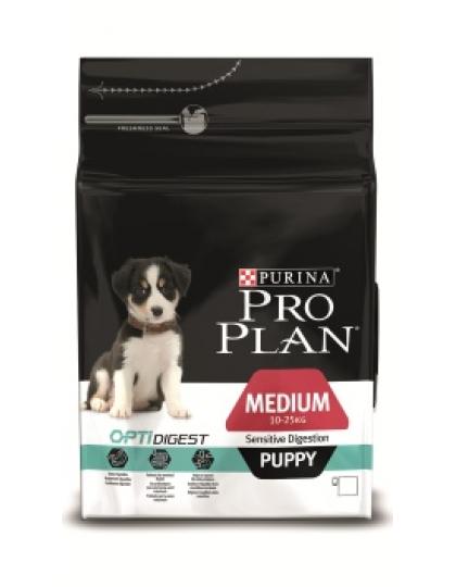 Medium Pappy Sensitive Digestion с комплексом Optidigest сухой полнорационный корм для щенков средних пород с чувствительным пищеварением, ягненок/рис