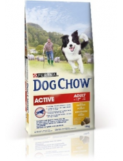 Adult полнорационный сухой корм для взрослых активных собак 1-9 ,курица