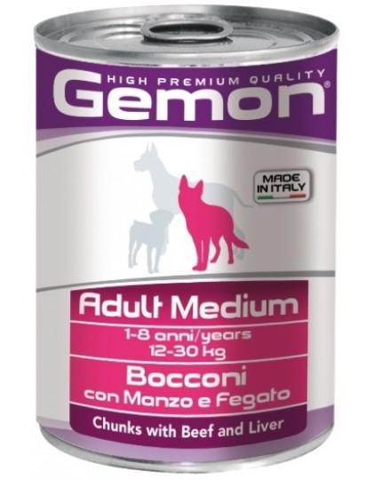 Adult Medium консервы для собак средних пород, кусочки говядины с печенью
