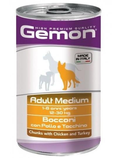 Adult Medium консервы для собак средних пород, кусочки курицы с индейкой