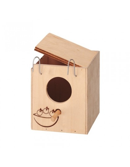 Nido домик-гнездо для экзотических птиц, деревянный