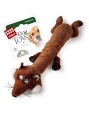 Лиса с большой и малой пищалкой игрушка для собак
