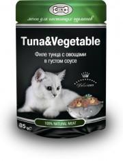 Филе тунца с овощами в густом соусе для кошек