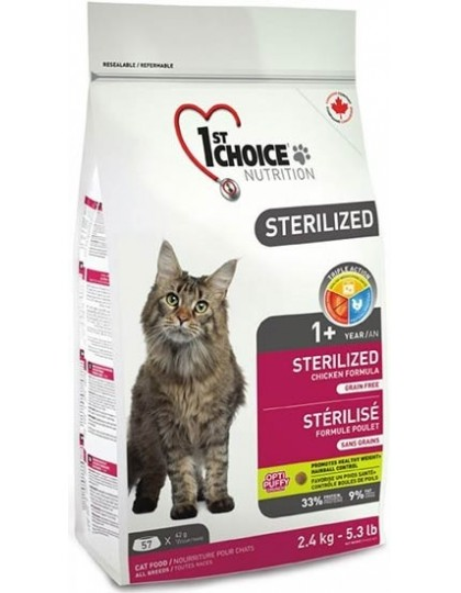 Sterilized корм для стерилизованных кошек курица с бататом