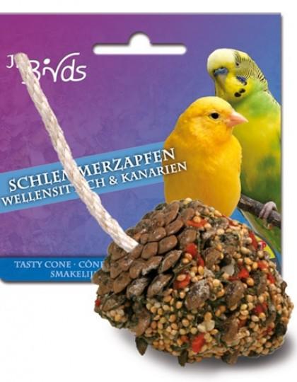 Лакомая шишка для волнистых попугаев и канареек