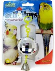 Disco Ball игрушка для птиц зеркальный шар с колокольчиком