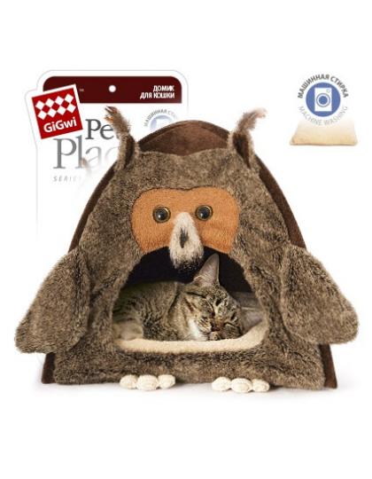 Домик для кошек и маленьких собак Сова