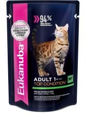 Adult Cat 1+ Years with Beef влажный корм с кусочками говядины в соусе для взрослых кошек старше 1 года