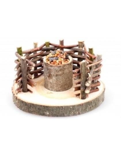 Плетень лакомство для грызунов из натурального дерева