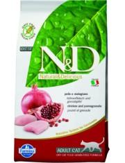 N&D Cat Chicken & Pomegranate Adult курица, гранат полнорационный беззерновой корм для взрослых кошек