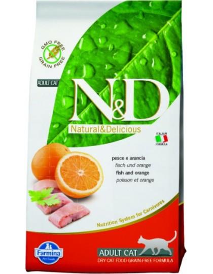 N&D Cat Fish & Orange Adult рыба, апельсин полнорационное питание для взрослых кошек