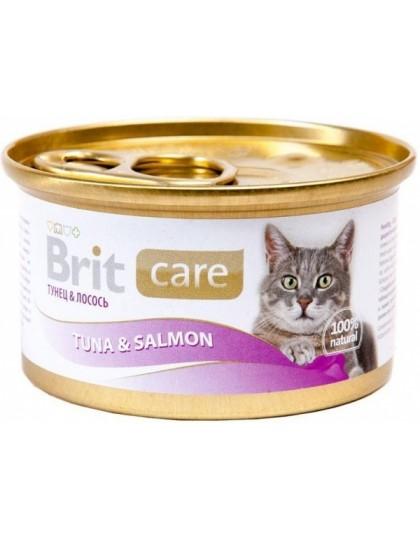 Консервы для кошек тунец, лосось