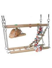 Лестница для хомяка подвесная двойная с веревкой