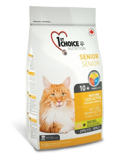 Фест чейс MATURE OR LESS ACTIVE для стареющих и малоактивных кошек от 10 лет и старше курица