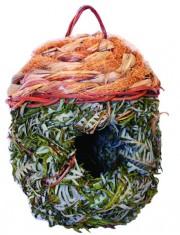 """Домик плетеный  с круглой крышей для птиц и грызунов """"желудь"""