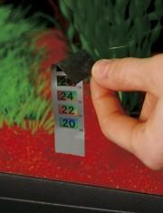 Термометр-полоска жидкокристаллический на стекло BLU 9099