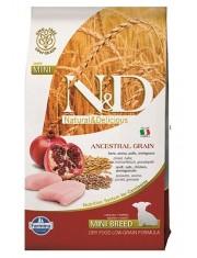 Natural & Delicious Low Grain Puppy Mini  полнорационное питание для щенков, беременных и кормящих сук мелких пород с низким содержанием зерна курица с гранатом