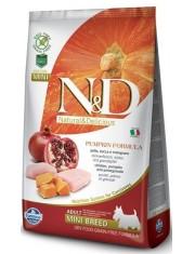 Natural & Delicious Grain Free Pumpkin Chicken & Pomegranate Adult Mini полнорационный беззерновой корм для взрослых собак мелких пород с курицей, тыквой и гранатом