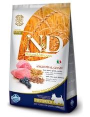 Natural & Delicious Low Grain Adult Mini полнорационный корм для взрослых собак мелких пород с низким содержанием зерна, ягненок с черникой