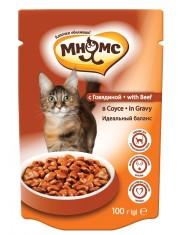 Полноценный корм для взрослых кошек говядина в соусе